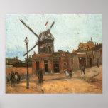 Moulin de la Galette de Van Gogh, molino de viento Poster