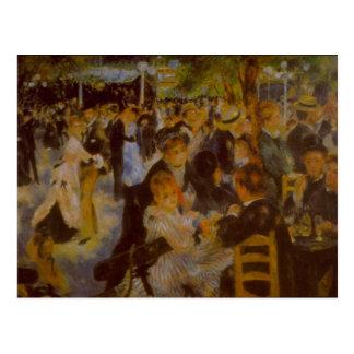 Moulin Galette by Pierre Renoir Postcard