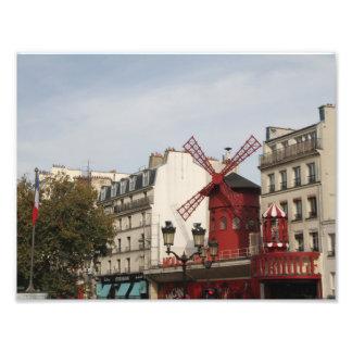 ¡Moulin Rouge! Fotografía de París Francia, Cojinete