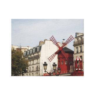 ¡Moulin Rouge! París, Francia, fotografía, lona Impresión En Lienzo