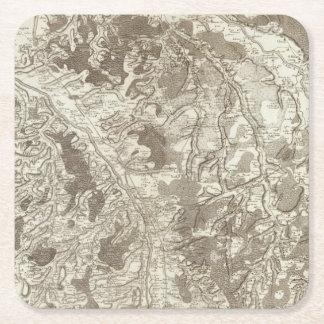 Moulins Square Paper Coaster