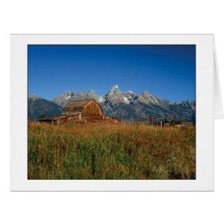 """ Moulton Barn "" Card"