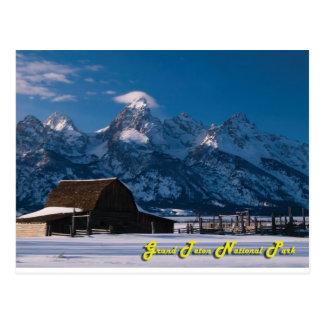 Moulton Barn Winter Postcard