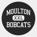 Moulton - Bobcats - High School - Moulton Texas Round Sticker