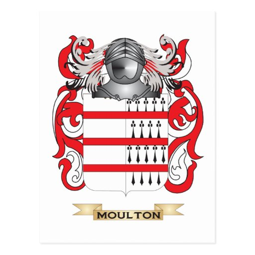 Moulton Coat of Arms (Family Crest) Postcard
