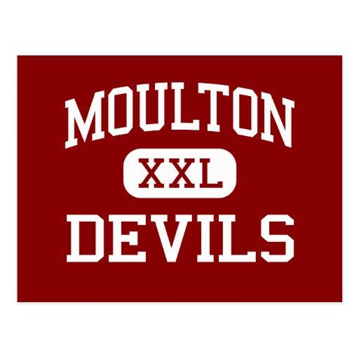 Moulton - Devils - Middle School - Moulton Alabama Postcard