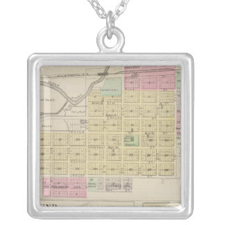 Mound City, Blue Mound, and Arrington, Kansas Silver Plated Necklace