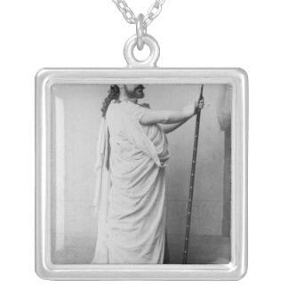 Mounet-Sully  as Oedipus in 'Oedipus Rex' Square Pendant Necklace