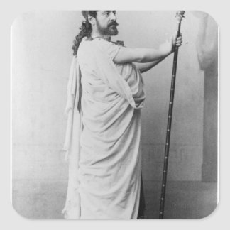 Mounet-Sully  as Oedipus in 'Oedipus Rex' Square Sticker