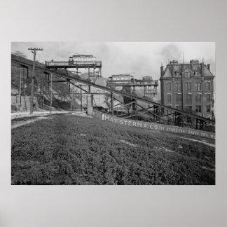 Mount Adams Inclined Railroad in Cincinnati 1905 Poster
