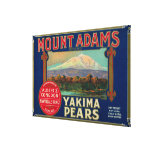 Mount Adams Pear Crate LabelYakima, WA Stretched Canvas Prints
