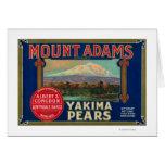 Mount Adams Pear Crate LabelYakima, WA Card