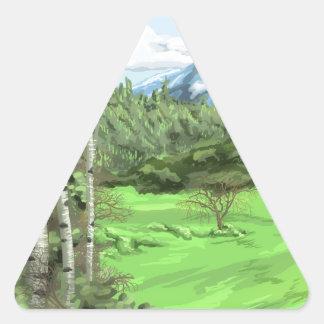 Mount Adjo Triangle Sticker