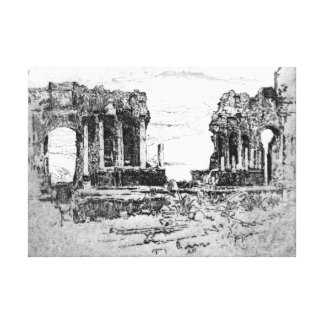 Mount Aetna from Taormina 1913 Canvas Print
