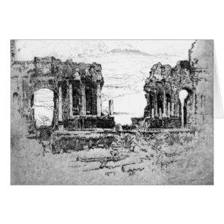 Mount Aetna from Taormina 1913 Card