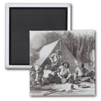 Mount Alexander gold-diggers at evening mess 2 Inch Square Magnet