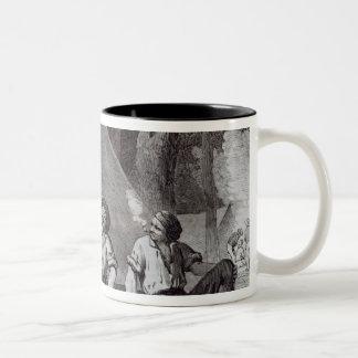 Mount Alexander gold-diggers at evening mess Two-Tone Coffee Mug