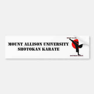 Mount Allison Shotokan Karate Bumper Sticker