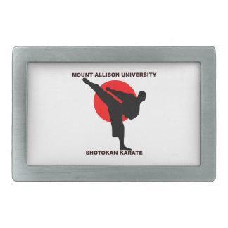 Mount Allison University Shotokan Karate Rectangular Belt Buckles