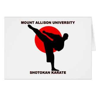 Mount Allison University Shotokan Karate Card