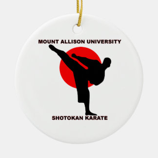Mount Allison University Shotokan Karate Ceramic Ornament