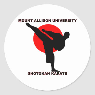 Mount Allison University Shotokan Karate Classic Round Sticker