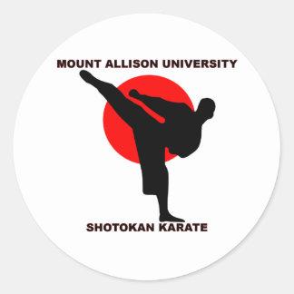 Mount Allison University Shotokan Karate Classic Round Sticker