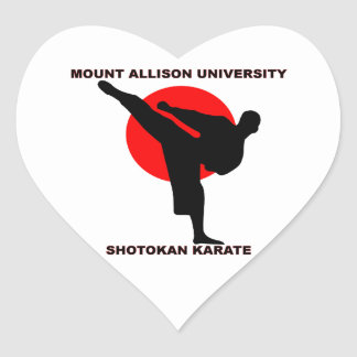 Mount Allison University Shotokan Karate Heart Sticker