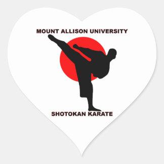 Mount Allison University Shotokan Karate Heart Sticker