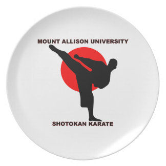 Mount Allison University Shotokan Karate Melamine Plate