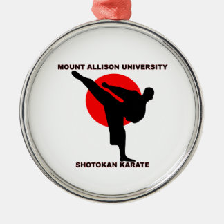 Mount Allison University Shotokan Karate Metal Ornament
