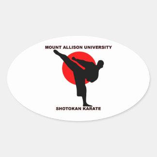 Mount Allison University Shotokan Karate Oval Sticker