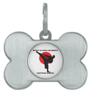 Mount Allison University Shotokan Karate Pet ID Tag