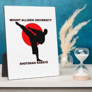 Mount Allison University Shotokan Karate Plaque