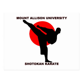 Mount Allison University Shotokan Karate Postcard