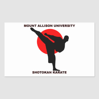 Mount Allison University Shotokan Karate Rectangular Sticker