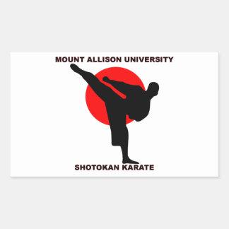 Mount Allison University Shotokan Karate Rectangular Sticker