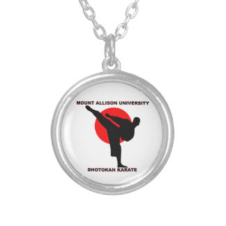 Mount Allison University Shotokan Karate Silver Plated Necklace