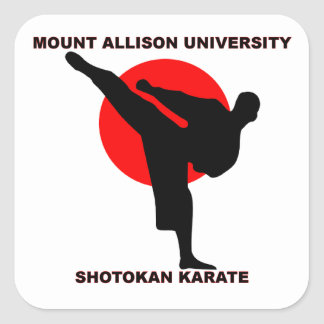Mount Allison University Shotokan Karate Square Sticker