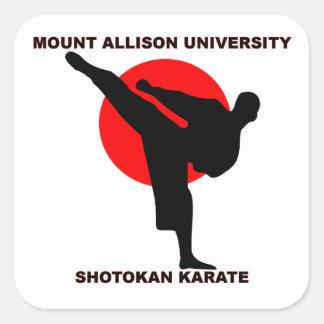 Mount Allison University Shotokan Karate Square Sticker