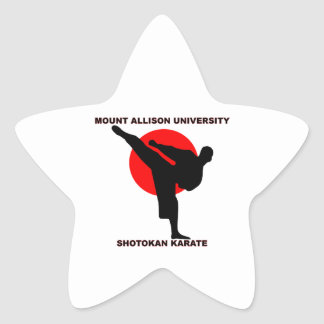Mount Allison University Shotokan Karate Star Sticker