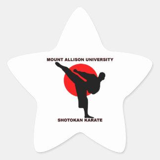 Mount Allison University Shotokan Karate Star Sticker