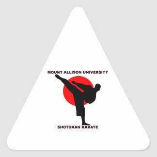 Mount Allison University Shotokan Karate Triangle Sticker