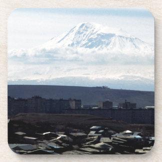 Mount Ararat seen from Yerevan Beverage Coasters