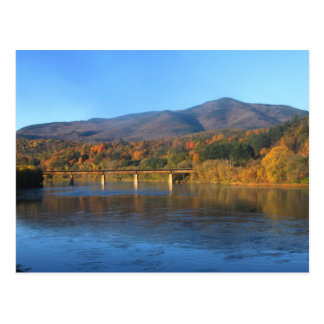 Mount Ascutney and Connecticut River in Autumn Postcard