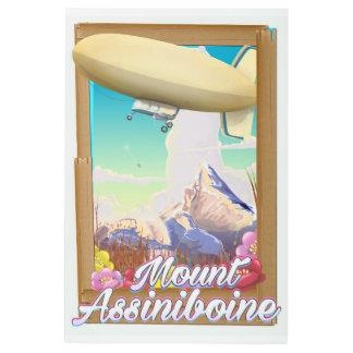 Mount Assiniboine Blimp vacation poster