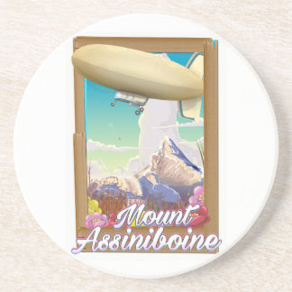 Mount Assiniboine Blimp vacation poster Coaster
