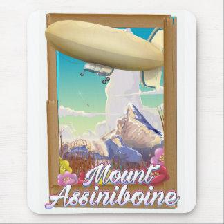 Mount Assiniboine Blimp vacation poster Mouse Pad