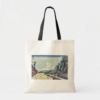 Mount Atago at Shiba by Utagawa, Kuninao Ukiyoe Budget Tote Bag