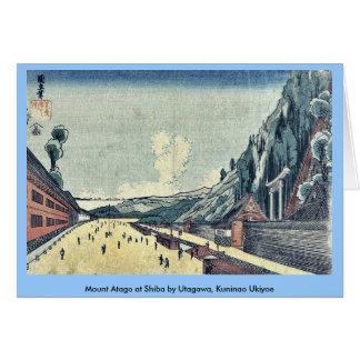 Mount Atago at Shiba by Utagawa, Kuninao Ukiyoe Greeting Card